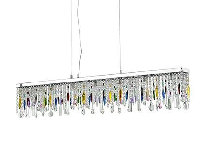 Luminaire à pampilles colorées Ideal Lux