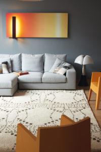 Salon décoré avec tapis Saba