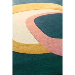 Tapis salon contemporain Coloré