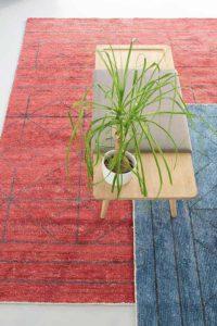 Casbah tapis rouge ethnique et géométrique