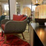 Fauteuil et lampe Sari Vincent Sheppard + Lampe Bamboo de Forestier